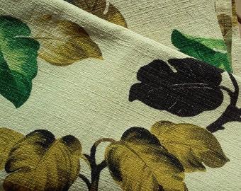 Vintage 40's Barkcloth Panel / Curtain
