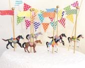 Carousel Horses Cake Toppers/Carnival Horses