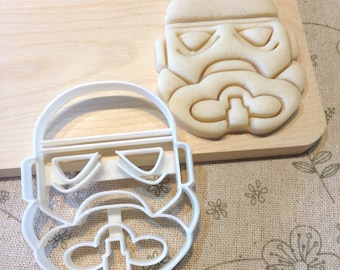 Star Wars Stormtrooper Cookie Cutter - Fondant Icing Cake Cupcake Topper Iced Sugar Cookies Birthday Party Favors Starwars Storm Troppers