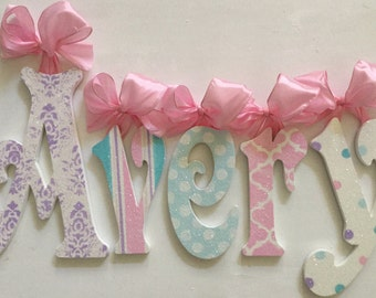 Baby Accessories Room Decor - GLITTERED -Decor for Baby and Kids - Wall Letters -Nursery Decor-Wall Art for Kids
