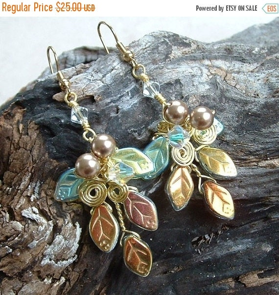 ON SALE Fairytale Wedding Earrings Titanias Dream