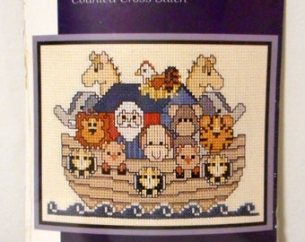Noahs Ark Counted Cross Stitch Kit Munchkins 319 NEW Craft Bible Story Kids Room