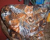 Big Cats Large Tea Cozy, Handmade and One of a Kind
