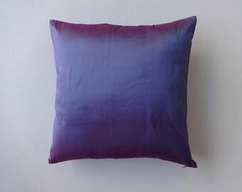 Lavender dupioni silk pillow.   lailac pillow cover. 2 tone lailac pillow. periwicle flower colour pillow.16 inch 2pcs in stock