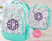 GIRLS personalized backpack , Back To School , kids backpack , lunch box,  monogrammed backpack , girls backpack, PARKER
