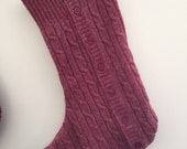 Cable Knit Cardigan Wool Stocking