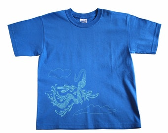Flying Beasts Youth Iris Blue Ultra Cotton S Tee: Wild and Free