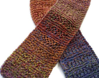 """Scarf - Ladies Hand Knit Multi Colored Scarf  - 5""""x50"""""""""""