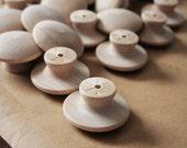 DIY Birch End Grain Wooden Knobs        1-3/4 inch Set of 6