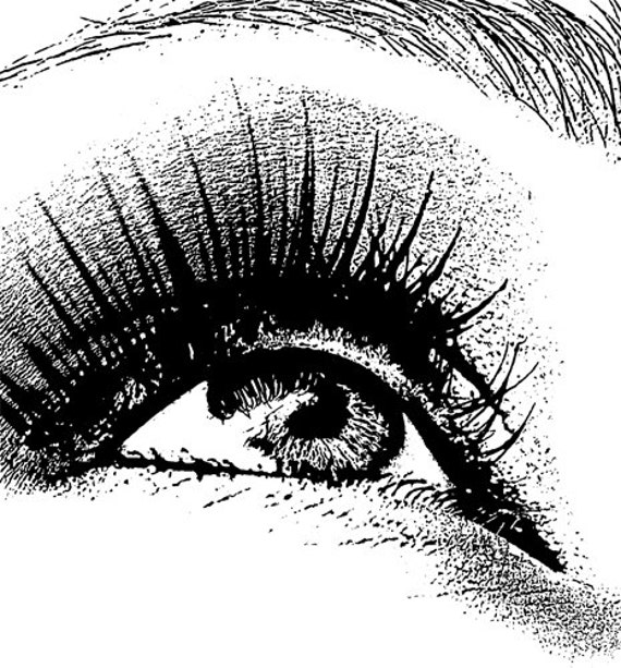 womans eye looking up printable black and white art Digital Image Download graphics clipart png clip art beauty makeup art printables