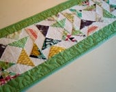 Modern Quilted Table Runner or Wall Hanging with Florals and Prints - Quiltsy Handmade