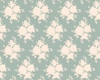 Tilda Fabric, Tilda Sally Blue Green Fat Quarter, All That is Spring Collection, Pure Cotton Fabric, Fat Quarter, 50 cm x 55 cm
