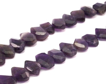 Amethyst 13mm  Faceted Gemstone Beads 15.5 Inches Full Strand T05