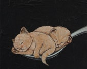 A Spoonful Of Kittens - Fine Art Print of Original Painting