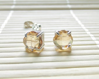 Swarovski Stud Earrings Sterling Silver 8mm