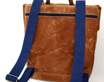 ADD-ON Waxed Canvas Zipper Pocket for Backpack or Messenger