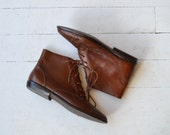 Tamarack ankle boots | vintage leather ankle boots | short brown boots 6.5