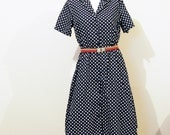 Secretary Dress Vintage Polka Dots Timeless