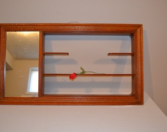 Vintage 1950's / MCM / Shadow Box / Shelf Large with Mirror