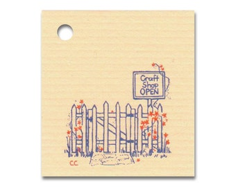 CRAFT SHOP OPEN ~ Hang Tags, Price Tags & 100 Strings Included - Size: Small, Pickett Fence, Flowers,Vendors Welcome