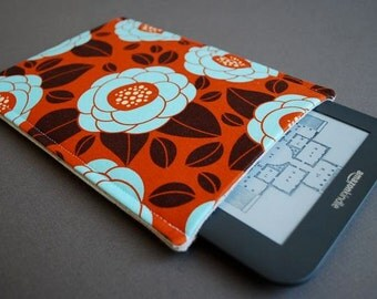 "Nook Tablet HD 7"" / Nook Tablet Case / Kindle Paper white Case / Kindle 7 Touch Case - Vintage Flower Orange"