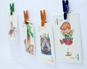 Children's 123 Number Vintage Style Flashcards | Set of 31 | Choose your size | School, Number 1-31, Flash Cards