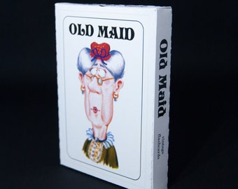 Old Maid Flash Cards | Vintage Style Game Cards | BRAND NEW