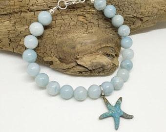 ON SALE Amazonite Starfish Bracelet CS103