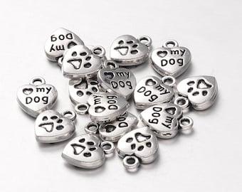 I love my dog charm - Set of 20 - #MP182
