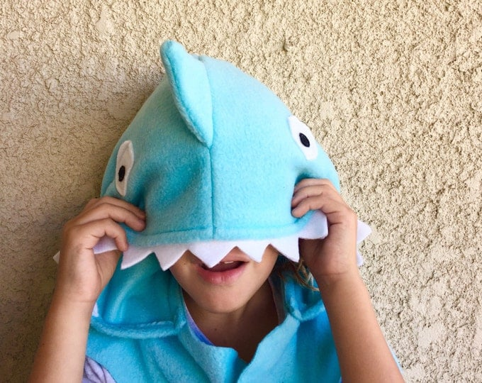Featured listing image: Blue Shark Cape, Halloween Costume or Dress Up Cape