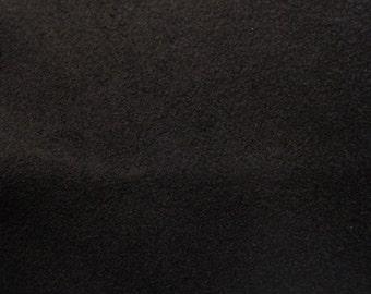 Black Faux Suede Fabric / Microsuede / Suedette - Large Fat Quarter - Vegan Suede