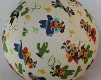 Fabric Balloon Ball Cover - TOY - Cowboy Owls - as seen with Michelle Obama on parenting.com