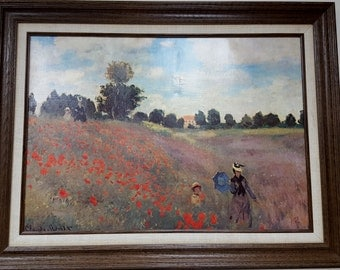 Impressionist Oil Painting Repro Claude Monet Les Coquelicots Made in France Musee Du Louvre Paris By F Hazan