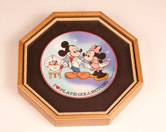"""Walt Disney Characters """"A Great Beginning"""" 1984 Schmid Collectors Gallery Limited Edition Plate Mickey Minnie Mouse"""