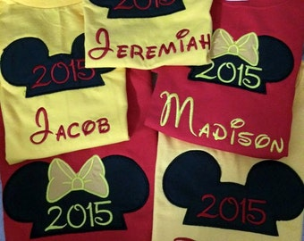 One mouse ears  t-shirts This is for the One Custom made boutique appliqued embroidered monogrammed