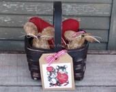 Valentine Mouse set, heart and mice, Valentine's Day decor