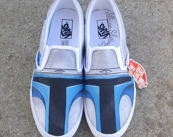 Star Wars Jango Fett Vans in Mens 13! Ready to ship and Ships same day!