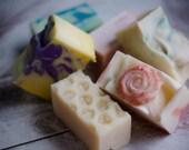 Mini Soap, Travel Soap, Soap Samples, Camping Soap, Gift Soap, Soap Favors, Stocking Stuffers, Handmade Soap, Olive Oil Soap