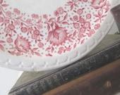 Vintage Red Transferware Dinner Plates * Ironstone * Syracuse China * Restaurant Ware