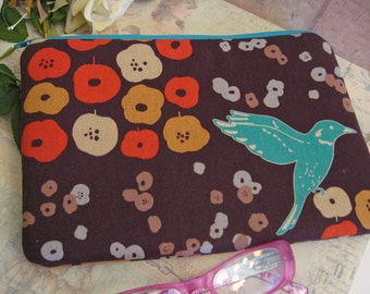 humming bird /  ipad mini cover/ birds /  ipad mini case/ padded pouch/ Japanese canvas