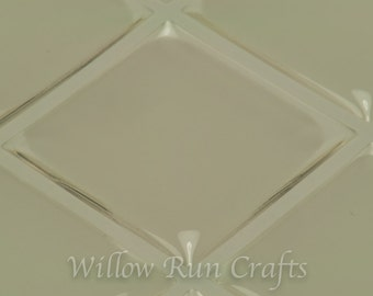 50 Pack 1 inch Square Clear Epoxy Dome Stickers, Square Resin Stickers ( 01-05-220)00