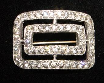 Rhinestone Vintage Belt Buckle Pin Amazing!