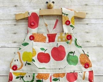 SUPER SALE - Shortall in Linen Summer Fruits