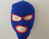 Vintage Child's SKI MASK red and blue 1970's