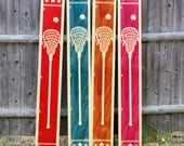 Wooden Sports Growth Chart / Kids Wood Height Chart / Baby Shower Gift / Personalized Child Growth Chart / Lacrosse