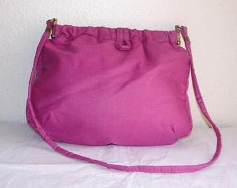 Deep Magenta Double Hinge Shoulder Bag
