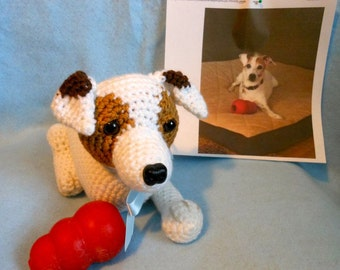 Custom Crochet Dog Made to Look Like Owner's Dog, Canine, Stuffed Dog, Stuffed Animal, Unique, OOAK, Look Alike, Pet Memorial