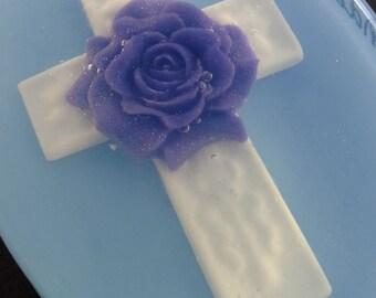 Lavender Cross Soap - secret pal, bible study, church, mother