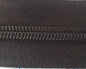 3 yds Dark Chocolate 5mm zipper