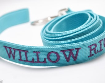 Personalized Classic Solid Dog Leash / ID Leash / Solid Dog Lead